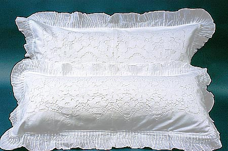 Victorian Bolster Pillows : King Pillow Sham Victorina old time ruffles.